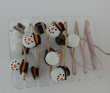Dept 56 Village String of 12 Snowman Lights #53053 D56 Works Perfectly