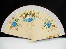 Folding Wood Hand Painted Floral Spanish Fabric Wdding Party Dance Flamenco Fan