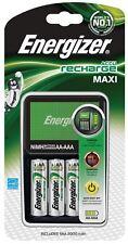 Energizer Cargador Maxi de la UE + 4 x AA pilas de 2000 mAh (para viajes europea)