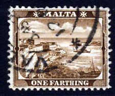 MALTA 1910 ¼d. Red-Brown Watermark Multiple Crown CA SG 45 VFU