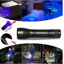 Portable UV Ultra LED Zoom Flashlight Torch Flash Light Black Light Lamp 18650