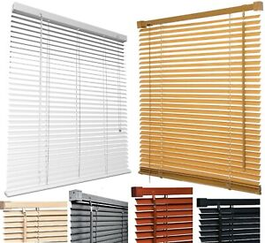 PVC VENETIAN WINDOW BLIND CURTAINS BLINDS TRIMABLE 25 mm SLATS EASY FIT