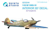 Quinta QD32046 1/32 Bf 109G-10 3D-Printed&coloured interior (for Trumpeter kit)