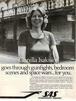 1980 Original Advertising' SAS Scandinavian Airlines System Gunilla Isaksson