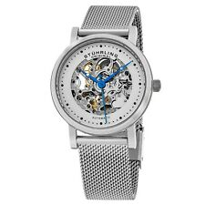 Stuhrling Original Women's Automatic skeleton Mesh Bracelet silve watch 832L.01