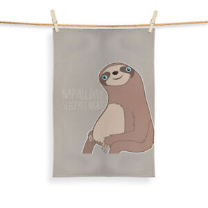 Sloth Design - Tea Towel