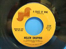 Helen Shapiro A Glass Of Wine / Waiting On The Shores 1970 Promo 45 Janus J 120