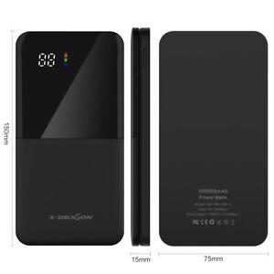 500000mAh Powerbank Tragbare Zusatzakku Batterie Ladegeräte für alle Handys LCD