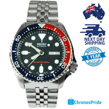 SEIKO SKX009K2 SKX009 PEPSI Stainless Steel Automatic Divers Mens Watch