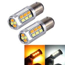 2 PCS 1157 6W 22 SMD-5730-LEDs White + Yellow Light Brake Light Turn Light, DC 1
