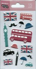 Stickers 3d pour ordinateurs consoles ou cahier London Londres 14 cm x 7,5 cm