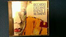COCCIANTE RICCARDO - EVENTI E MUTAMENTI. TIMBRO SIAE ROSSO A SECCO. CD