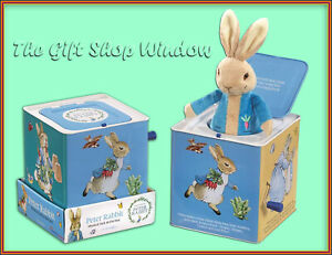 BEATRIX POTTER PETER RABBIT MUSICAL SOFT PLUSH JACK IN THE BOX SUPER QUALITY NEW