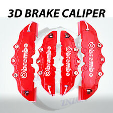 4pcs Red 3D Disc Brake Caliper Cover Kit For Mercedes-Benz C200 C300 CLS SL AMG