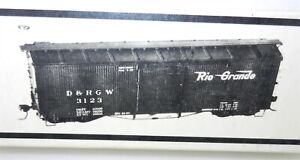 "PBL Sn3 #R-2 ~ D&RGW ""3000"" SERIES BOXCAR UNBUILT KIT~NEW IN BOX/OLD STOCK ~T215"