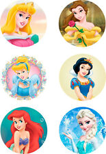 "Disney Princess Cake Topper  6 x 3""  on  A4 Edible Printed Icing - Not Precut"