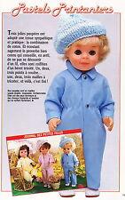 Page originale  POUPEES Modes et Travaux  avril 1985 + Explic tricot BERET