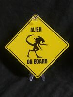Alien On Board Yellow Caution Window Sign from BAM Horror Box