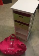 ‼️ American Girl Doll Furniture Storage Tower Retired PLUS Pink Doll Bag Carrier