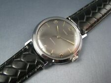 Vintage Timex Marlin Silver Tone Gray Dial Self Wind  Mens Watch 1962