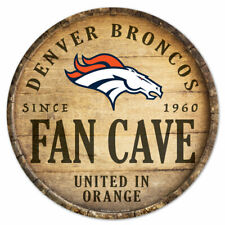 NFL Denver Broncos Fan Cave Rund Wood Sign Holzschild Holz Deko Football