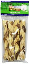 Redbarn Twizzle Stix Beef Rawhide Pizzle Strips Large Chews for Dogs 4 Count