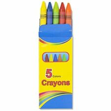 Bulk School Supplies Wholesale Lot Box of 96 Crayons 5 Color Pack Back to School
