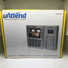U ATTEND CB2000 Time Clock Employee Management System Terminal Wi-Fi