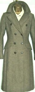 """JOULES Long """"Glenmere"""" Coat SZ 10 Colour """"Harkiss"""" brown Wool blend tweed style"""
