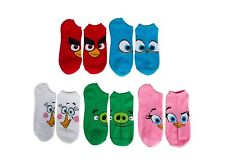 ROVIO Angry Birds Low Cut Ankle Socks 5 Pair Size 9-11 for Women or Teens