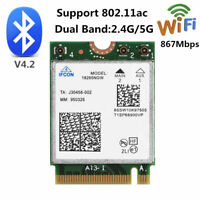 Wireless AC 867Mbps Wifi+Bluetooth 4.2 M.2 NGFF Card 802.11AC for Intel 18265NGW