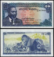 KENYA 20 SHILLINGS (P17) 1978 UNC