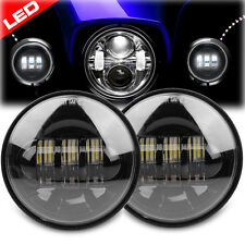 """Pair Motorcycle 4.5"""" LED Auxiliary Spot Fog Passing Lights For Harley Davidson"""