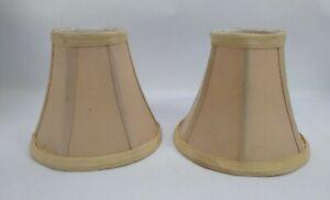 "Mini Bell Lamp Shade light tan 5 1/2"" Fabric Chandelier Shade Lite Source"