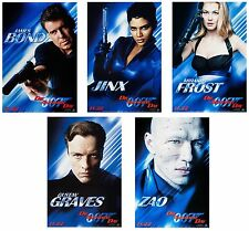 DIE ANOTHER DAY (2002) SET OF 5 ORIGINAL PORTRAIT ADVANCE MOVIE POSTERS - ROLLED