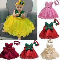 Formal Bridesmaid Wedding Tutu Kid Flower Baby Girl Party Princess Dress Toddler