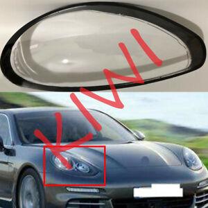 For Porsche Panamera 2014-2015 Right Side Headlight Cover Transparent PC + Glue
