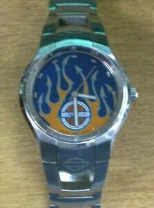 Working 2006 Bulova Harley Davidson Men's Wristwatch #76A15
