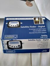 Digital satellite signal finder meter