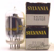 2 Sylvania 12JT6A Beam Power Black/White TV Valve- BangyBang Tubes