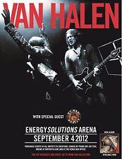 VAN HALEN 2012 SALT LAKE CONCERT TOUR POSTER - Eddie Jamming With David Lee Roth