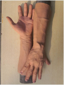 GMP silicone gloves,realistic skin texture,wearable  artificial limb young man