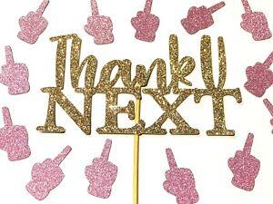 Thank u (you) Next Divorce Cake Topper, Divorce party cake decorations