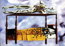 Frida Kahlo - The dream - A4 size 21x29.7cm QUALITY Canvas Art Print Unframed
