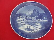 1999 ROYAL COPENHAGEN CHRISTMAS  PLATE SLEIGH HOME