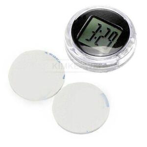 Waterproof Motorcycle Mount LCD Digital Clock Motorbike Stick-On Clock Watch New