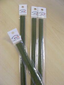 Dark Green Florist Wires - Various guages available - Sugarcraft