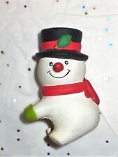 Vintage Christmas Snowman Candle Hugger Single