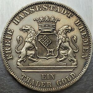 1 Thaler 1865 Liberation of Germany Free imperial city of Bremen Only 50.000 H-G