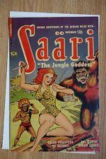 "Saari #1 (Nov 1951, P.L. Publishing) ""The Jungle Goddess"" Vintage Comic Book"